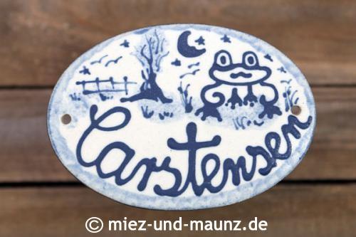 Türschilder: Keramik Namensschild